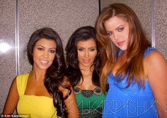 Younger: At the time, Kourtney was 28, Kim was 27 and Khloe was 23