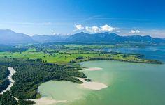 Chiemgau- Achen-Delta, Blick Richtung Achental, Den Chiemgau von seiner schönsten Seite erleben! Urlaub und mehr im www.casa-shania.de