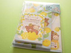 Kawaii Cute Mini Letter Set *RilakkumaWriting papers : 16 sheetsEnvelopes : 8 piecesMini envelopes :…