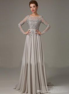 New Mother of The Bride Groom Dresses Grey With Long Sleeves Crystals 2015 Formal Chiffon Sexy Plus Size Lace Dress Evening Gowns Pant Suit Online with $115.92/Piece on Myweddingdress's Store | DHgate.com