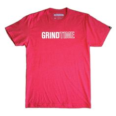 Grindtime CAPS Tee (Red)