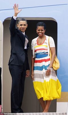 First Lady Michelle Obama wearing Marc by Marc Jacobs