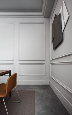 Home Decor 2019 Home Room Design, Interior Design Living Room, Living Room Designs, House Design, Modern Wall Paneling, Living Room Panelling, White Wall Paneling, Wall Panelling, Home Living Room