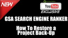 GSA Search Engine Ranker   Restore a data pack from Asia Virtual Solutions