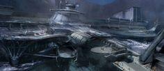 concept ships: Spaceship concept art by Gloria Shih Spaceship Concept, Concept Ships, Concept Art, Spaceship Art, Cyberpunk City, Futuristic Art, Starcraft, Fantastic Art, Sci Fi Art