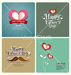 Happy fathers day love dad collections vector by Sarunyu_foto on VectorStock®