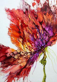 Encaustic art portfolio of Alicia Tormey. I wonder if I can do something similar with Pebeo paints.