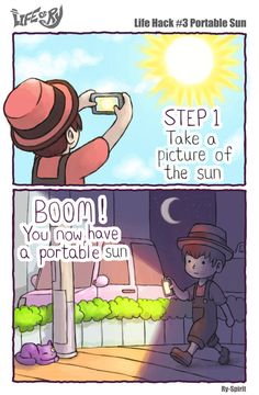 Life of Ry - Life Hack #3 Portable Sun by Ry-Spirit on DeviantArt