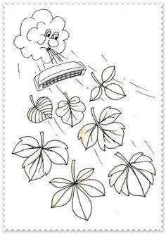 Desene de colorat cu frunze de TOAMNA / Modele cu FRUNZE de toamna - Universul piticilor Autumn Activities, Coloring Pages, Drawings, Recherche Google, Puzzle, Teacher, Art, Preschool, Kid