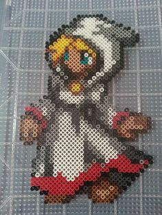 Final Fantasy White Mage Perler Bead Figure by AshMoonDesigns, $10.00