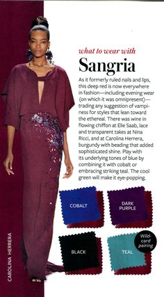What to wear with Sangria - InStyle
