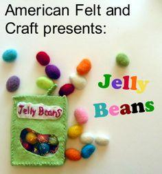 Felt Jelly Beans Tutorial