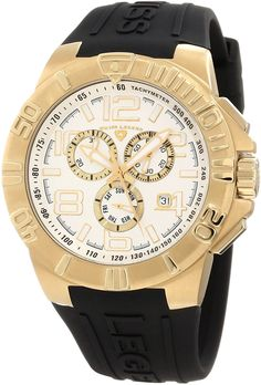 Swiss Legend Men's 40118-YG-02S Super Shield Chronograph Silver Dial Watch *** More info could be found at the image url.