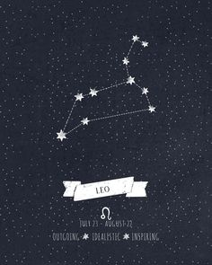 Leo Constellation Print Art Print