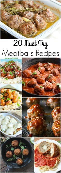 20 Must Try Meatballs Recipes! Great round up! So much variety!! Would be hard to choose which to make first!