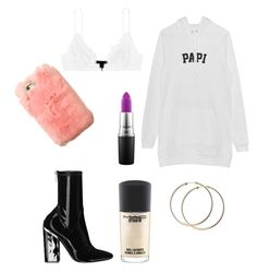 """""""Untitled #67"""" by adiduss-1 on Polyvore featuring Kiki de Montparnasse, MAC Cosmetics and patchesandpins"""
