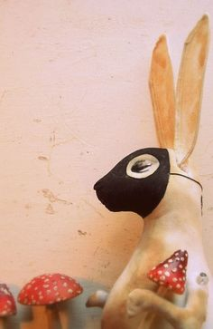 Mister Finch's Fairytale Masked Hare, Textile Arts