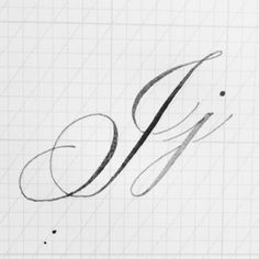 """195 Likes, 16 Comments - Bespoke Strokes Calligraphy (@bespokestrokes) on Instagram: """"Today, the letter J. That long stem is really difficult for me. Also, I admit that I've…"""""""