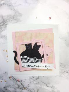 Stampinup - Katze - Stanze - Karten - Ideen - Basten - DIY- rosa