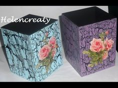 Craquelado con goma escolar - Crackle Finish Using Glue Crackle Painting, Ceramic Painting, Fabric Painting, Painting On Wood, Decoupage Vintage, Crochet Pumpkin Hat, Easy Crafts, Diy And Crafts, Decoupage Tutorial