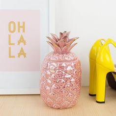 Piña de loza en color rosa | Antic&Chic