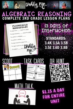 Spend less time prepping for your 3rd grade #math #lessonplans and more time teaching! Here is a priceless bundle that includes stations, games, activities, teacher tools and everything you need for 13 days of math lessons! #3rdgrade #classroom #school #algebra #mathgames #mathworksheets For more resources to simplify your teacher life, visit ipohlyinc.com! Math Lesson Plans, Math Lessons, 3rd Grade Math Worksheets, Math Talk, Learning Targets, Student Data, 13 Days, Guided Math, Teaching Activities