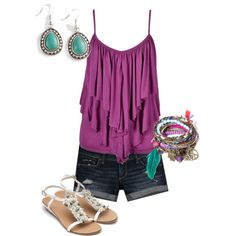 A fashion look from June 2012 featuring Abercrombie & Fitch shorts and Monsoon sandals. Browse and shop related looks.