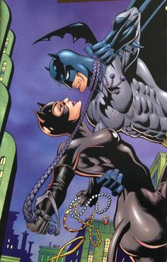 Batman and Catwoman (I ain't the kind you take home to mama) Batman Vs, Catwoman Y Batman, Batman The Dark Knight, Batgirl, Catwoman Cosplay, Batman Stuff, Comic Book Heroes, Comic Books Art, Comic Art