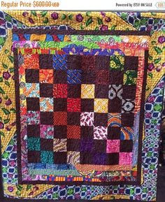 JOYFUL SALE African Merlot 54x62 inch art quilt by OVBrantleyQuilts on Etsy https://www.etsy.com/listing/211310917/joyful-sale-african-merlot-54x62-inch