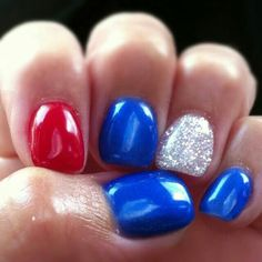 4th of July nails (: