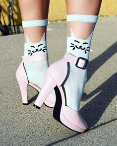 Unique Vintage Sheer Cat Socks - Under $!0...must have!!!