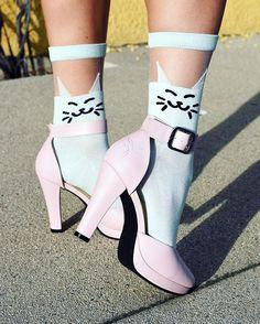Unique Vintage Sheer Cat Socks - Under $!0...must have!!!