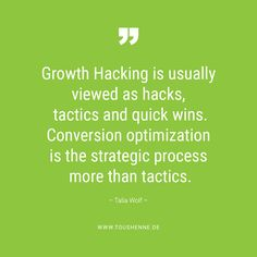 growth marketing is a strategic process, says conversion optimization specialist Talia Wolf Newsreader, Growth Hacking, Marketing, Conversation, Wolf, Sayings, Lyrics, Wolves, Quotations