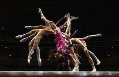 Multiple exposure photography  from the U.S. Olympic Gymnastics Team Trials in San Jose, California. \ McKayla Maroney