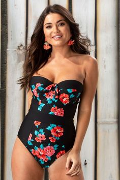 Buy Pour Moi Reef Padded Strapless Underwired Swimsuit from the Next UK online shop Strapless Swimsuit, Country Fashion, Black Side, Cute Swimsuits, Black Swimsuit, Party Looks, Next Uk, Wearing Black, Uk Online