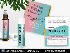 Perfume Roller Ball Label Template,Lip Balm Tube Label template , essential oil roll on, modern label, edit able lip balm label-id043 #HandCareLabel #8ozLabelTemplate #FaceCareLabel #ProductLabel #MistsLabelTemplate #MassageOilsLabel #EditableBathLabel #FragranceLabel #ModernLabel #LipBalmLabel