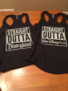 Straight outta Disneyland tank top
