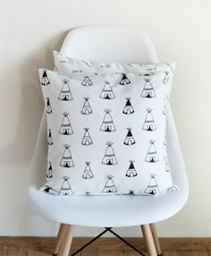 Teepee's Pillow Cover by Plumed on Etsy