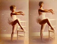 recreating childhood photos irina werning Lea B 1980 & 2011 Paris