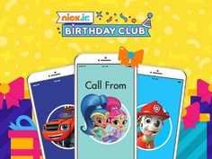 Make birthdays extra-special with a personalized happy birthday phone call wish from your child's favorite Nick Jr. character! Join the Nick Jr. Birthday Club today!