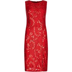 Per Una Lace Sequin Embellished Shift Dress ($59) ❤ liked on Polyvore featuring plus size fashion, plus size clothing, plus size dresses, short dresses, red, sleeveless cocktail dress, red dress, short sleeve dress, short red dress and short red cocktail dress