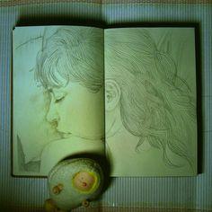 sketchbooks by L Filipe dos Santos, via Behance
