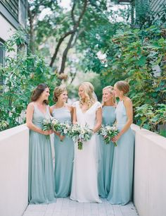Seafoam blue bridesmaid dresses: http://www.stylemepretty.com/2016/01/25/seafoam-blue-santa-rosa-beach-wedding/ | Photography: Jennifer Blair - http://jenniferblairphotography.com/