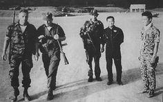 Thorne, far left, taken just before his final mission