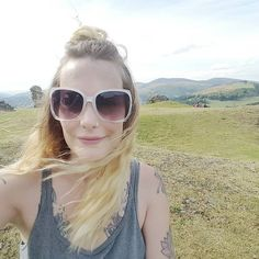 Windblown selfie on