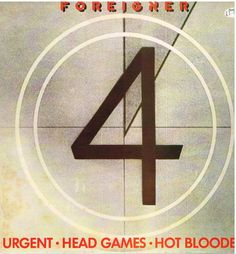 "FOREIGNER: URGENT b/w HEAD GAMES & HOT BLOODED   (3 Track 12"" Single)"