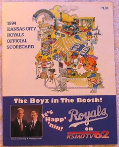 1994 KANSAS CITY ROYALS OFFICIAL SCORECARD VS OAKLAND A'S UNMARKED FREE SHIPPING