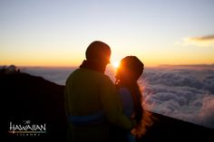 """Hawaii is romantic, no matter what you do. Another pinner said: """"Is there anything more than being above the clouds at Haleakala summit? Honeymoon Vacations, Honeymoon Spots, Hawaii Honeymoon, Dream Vacations, Go Hawaii, Hawaii Travel, Honeymoon Romance, Dream Vacation Spots, Above The Clouds"""