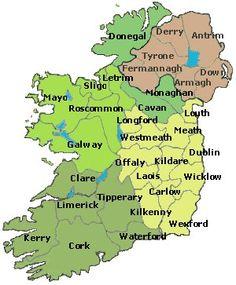 Irish Language Map Of Kildare Custom Acrylic Painting Made In