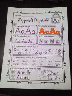L'alphabet en fran�ais